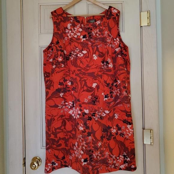 Taylor Dresses & Skirts - *Last Chance* EUC Taylor Red Print Shift Dress